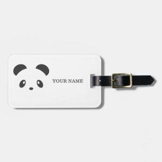 Personalisierter Pandagepäckumbau Adress Schild