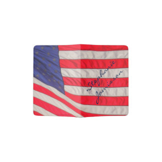 Personalisierter Pass-Halter, amerikanische Flagge Passhülle