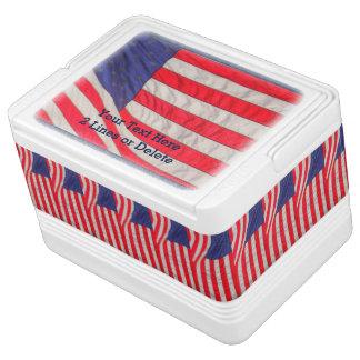 Personalisierter patriotischer Iglu-coolere Kühlbox