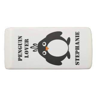 Personalisierter Penguin-Entwurf Radiergummi