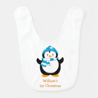 Personalisierter Penguin-Schellfisch, das 1. Lätzchen