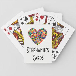 Personalisierter Perlen-Liebhaber Spielkarten