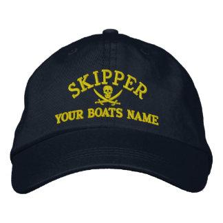 Personalisierter Piratensegelnkapitän Bestickte Mütze