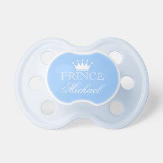 Personalisierter Prinz-Schnuller mit Namen und Schnuller