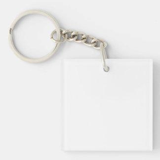 Personalisierter quadratischer Schlüsselanhänger
