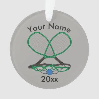 Personalisierter Racquetball Ornament