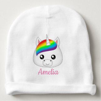Personalisierter Regenbogen niedlicher Kawaii Babymütze