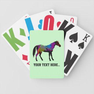 Personalisierter Rennen-Pferdeentwurf auf tadellos Bicycle Spielkarten