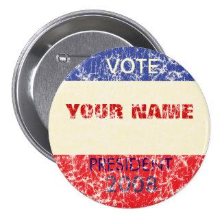 Personalisierter Retro Kampagnen-Knopf Anstecknadelbutton