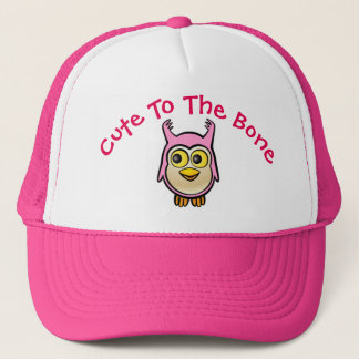 Personalisierter rosa Baby-Eulen-Cartoon Truckerkappe