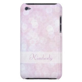 Personalisierter rosa bokeh iPod-Kasten iPod Touch Etuis
