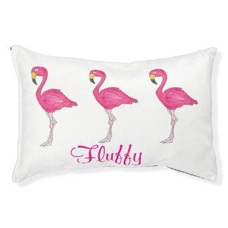 Personalisierter rosa Flamingo-tropisches Haustierbett