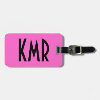 Personalisierter rosa und schwarzer Gepäck-Umbau Gepäckanhänger