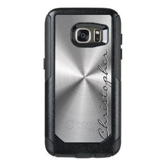 Personalisierter rostfreier Stahl-metallischer OtterBox Samsung Galaxy S7 Hülle