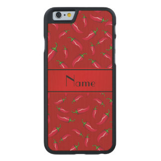 Personalisierter roter Chilinamenspfeffer Carved® iPhone 6 Hülle Ahorn