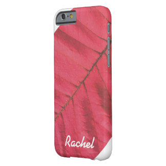 PERSONALISIERTER ROTER TELEFON-KASTEN DES BARELY THERE iPhone 6 HÜLLE