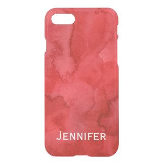 Personalisierter roter Watercolor iPhone 7 Kasten iPhone 7 Hülle