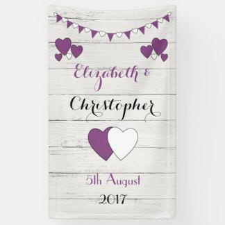 Personalisierter rustikaler Hochzeits-Hintergrund Banner