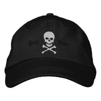 Personalisierter Schädel und Knochen-gestickte Bestickte Kappe
