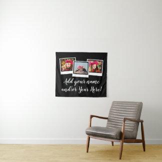 Personalisierter Schnappschuß 3-Foto gestaltet Wandteppich