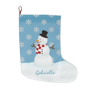 Personalisierter Schneemann Großer Weihnachtsstrumpf