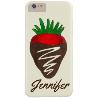 Personalisierter Schokoladen-Erdbeervalentine-Fall Barely There iPhone 6 Plus Hülle