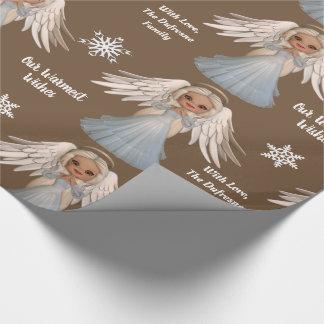 Personalisierter schöner Engel Geschenkpapier