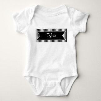 Personalisierter schwarzer baby strampler