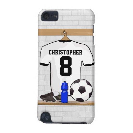 Personalisierter schwarzer Fußball-Fußball Jersey