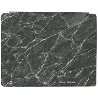 Personalisierter schwarzer Marmor iPad Hülle