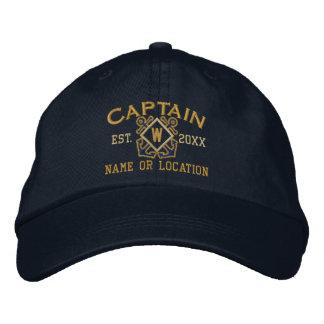 Personalisierter Seekapitän Seemonogramm u. mehr Bestickte Baseballkappe