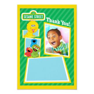 Personalisierter Sesam-Straßen-Kumpel-Geburtstag 8,9 X 12,7 Cm Einladungskarte