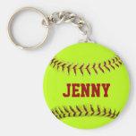 Personalisierter Softball Keychain Schlüsselbänder