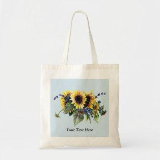 Personalisierter Sonnenblume-Blumenstrauß Tragetasche