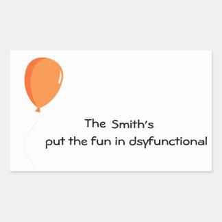 Personalisierter Spaß in dysfunktionellem Rechteckiger Aufkleber
