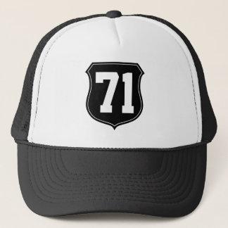 Personalisierter Sport bedeckt   Hut mit Nr. 71 Truckerkappe