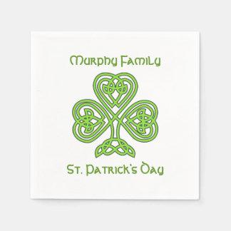 Personalisierter St Patrick Tag Papierserviette