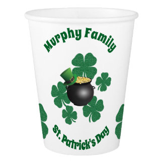 Personalisierter St Patrick Tag Pappbecher