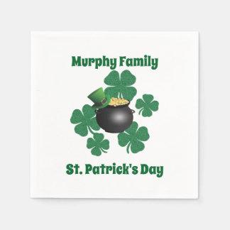Personalisierter St Patrick Tag Serviette