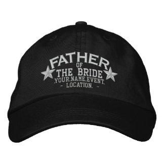 Personalisierter Stern-Vater der Braut-Stickerei Bestickte Baseballkappe