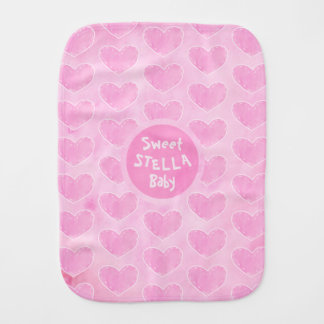 Personalisierter Stoff burb Baby des rosa Spucktuch