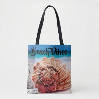 Personalisierter Strandvibes-Ozean-SeeMuschel-Sand Tasche