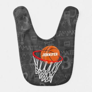 Personalisierter Tafel-Basketball und Band Lätzchen