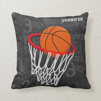 Personalisierter Tafel-Basketball und Band Zierkissen