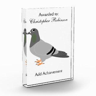 Personalisierter Tauben-Entwurf Auszeichnung