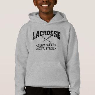 Personalisierter Team-Stadt-StaatLacrosse Hoodie