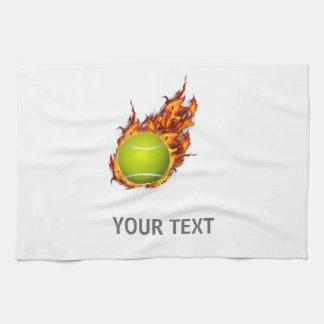 Personalisierter Tennis-Ball auf Küchentuch