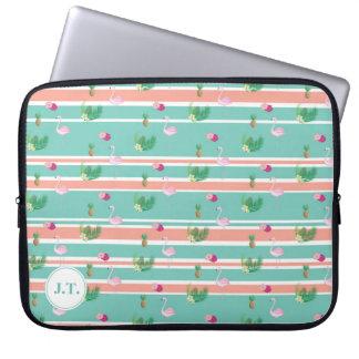 Personalisierter tropischer Flamingo-Laptop-Kasten Laptopschutzhülle