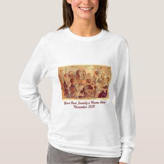 Personalisierter Vintager Familien-Erntedank T-Shirt