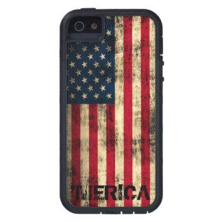 Personalisierter Vintager Grunge 'Merica Flagge Etui Fürs iPhone 5